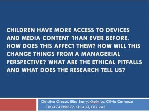 Children and Media (presentation)